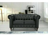 🔵💖🔴POPULAR CHOICE🔵💖🔴CHESTERFIELD PU LEATHER SOFA 2 SEATER-CASH ON DELIVERY🔵💖🔴
