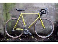 RALEIGH R200. 23.5 inch, 60 cm. Vintage racer racing road bike, 14 speed