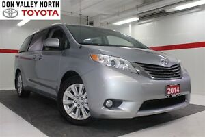 2014 Toyota Sienna XLE DVD Heated Lthr Nav Sunroof Btooth BU Cam