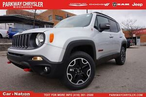 2017 Jeep Renegade Trailhawk| 4X4| NAV| HEATED SEATS| MY SKY ROO