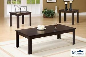 Mocha 3PC Coffee Table Set