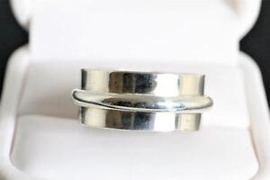BRAND NEW SOLID HEAVY SILVER STAMPED STYLISH BAND FOR SALE