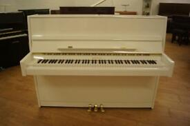 New white Bentley upright piano. Tuned & UK delivery available