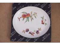 """Royal Worcester """"Evesham Vale"""" 14 inch serving plate. new & boxed"""