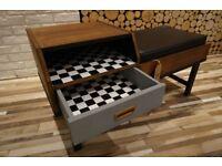 Vintage 1960s Telephone Seat, SIDEBOARD ,DRAWERS VINTAGE,RETRO,solid wood (free delivery)