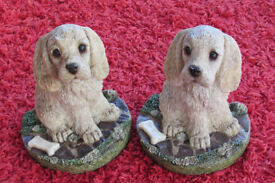 Sweet detailed Dog / Puppy Book Ends U.D.C '94
