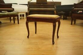 High gloss mahogany Queen Anne piano stool