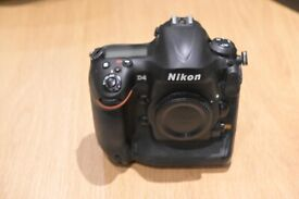 Nikon D4 dSLR Camera Body, was £5,000 new - almost pristine, 51k shots (only 12% of shutter life)