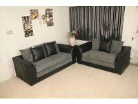 jumbo cord byron sofa set 3 & 2 comfortable & stylish in grey or brown furniture