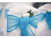 50P LYCRA WEDDING /PROM CHAIR COVER & TABLE CLOTH HIRE** Nationwide Delivery **FREE TABLE RUNNERS***