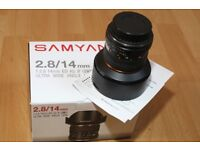 Samyang 14mm f/2.8 ED AS IF UMC Aspherical - FOR CANON