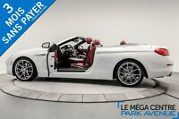 2012 BMW 650 CABRIOLET,  INT. ROUGE, NAVIGATION