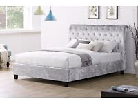 'The Casablanca' Double Crushed Velvet Bed