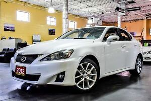 2012 Lexus IS 250 AWD PREMIUM PKG LEATHER SUNROO 17ALLOYS