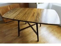 Retro Vintage Ercol Model 387 Old Colonial Drop Leaf Kitchen Dining Table