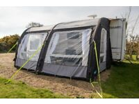 Kampa rally air pro 390 awning (plus extras), used for sale  Royston, Cambridgeshire