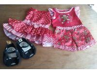 Build a Bear Outfits Christmas Pyjama Set, Dress and Shoes