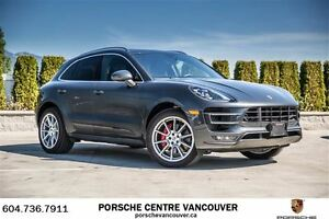 2017 Porsche Macan Turbo Porsche Approved Certified.