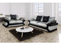 *** left hand right hand corner and 3 and 2 seater*** CRUSH VELVET MAX DIAMOND CORNER SOFA