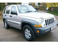 JEEP CHEROKEE SPORT 2.8CRD, SIX SPEED GEARBOX,TOW PACK,55 REG,START TOWING,