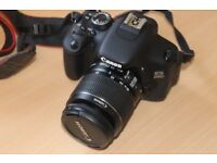 canon 600d EOS digital camera with 18-55mm lens