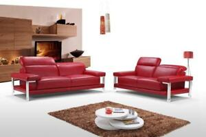 RED SOFA LIVING ROOM IDEAS -LOVESEAT COUCH -RED LIVING ROOM FURNITURE (BD-1238)