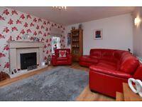 Red Leather Corner Sofa & Armchair