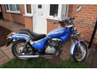 Gilera Cougar 125 Blue & Silver Motorcycle Motorbike