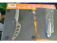 50 Cheese Knife and slate board sets