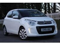 CITROEN C1 1.0 FEEL 5d 68 BHP RAC WARRANTY + BREAKDOWN COVER!! (white) 2015