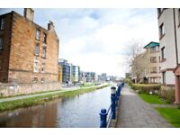 Short Term Lets (1-3 months) One Bedroom Flat on Union Canal with car parking (404)