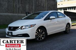 2015 Honda Civic EX + LOCAL + NO ACCIDENTS + LOW KMS + CERTIFIED