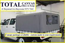 CANVAS UTE CANOPY PACKAGES - INCLUDES FRAME, CANOPY & INSTALL Bayswater Bayswater Area Preview