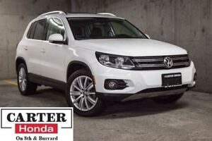2014 Volkswagen Tiguan Highline + LOW KMS + NAVI + AWD + LEATHER