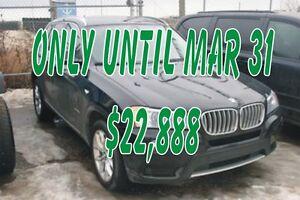 2013 BMW X3 xDrive28i, S/ROOF, NAV, LEATHER, B.U.CAM, ALLOYS
