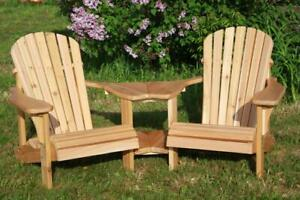 Handcrafted cedar tete-a-tete, conversation courting gossips kissing bench, two seat chairs - FREE SHIPPING