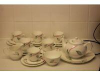 Duchess Windermere 22 piece Teaset Teapot 6 trios cake/sandwich plate sugar milk