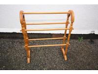 Wooden towel rail.