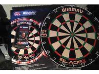 Winmau dart board and darts £15
