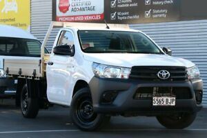 2016 Toyota Hilux TGN121R Workmate 4x2 Glacier White 5 Speed Manual Cab Chassis Cheltenham Charles Sturt Area Preview