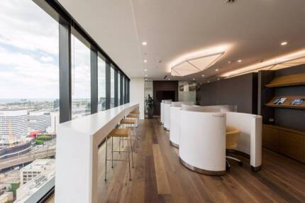 Stylish private office space available at 567 Collins Street