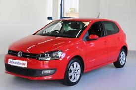 VOLKSWAGEN POLO 1.2 60 Match Edition 5dr (red) 2014