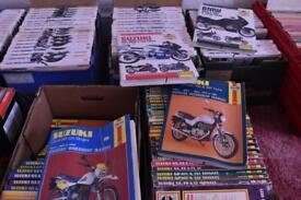 ONO ON THE PRICE- approx 600 bike manuals (Haynes)