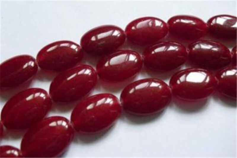 """Charming! 13x18mm Red Ruby Oval Loose Beads 15"""""""