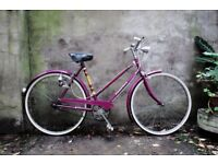 DAWES COMPASS. 21 inch, 53 cm. Vintage ladies womens dutch style traditional road bike, 3 speed
