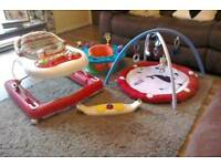 Baby walker . Play station seat . Activity mat.
