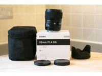Sigma 35mm f/1.4 ART AF DG HSM Art Lens (Canon) - Perfect Condition