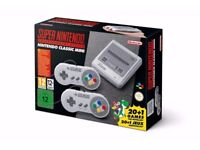 NEW NINTENDO SNES MINI CONSOLE WITH 2 CONTROLLERS