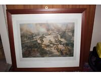 'The Bridge at Arnhem'. First edition print signed by Major General John Frost CB DSO MC