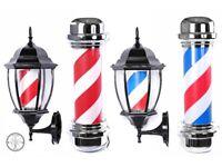 Sign Light Barber Pole LED Pole Salon Sign Light Red White 80cm Large For Barber shops And Salon